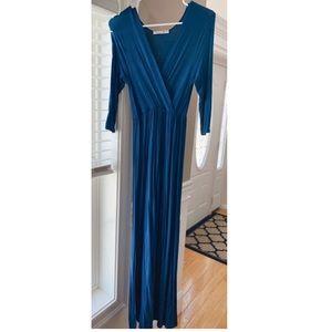 V-Neck Maternity Maxi Dress